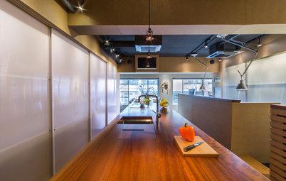 My Houzz:キッチンとオフィスをひとつの空間に。職住一体の理想的な住まい