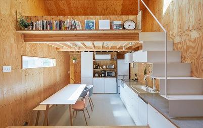 用途を決めない空間を楽しむ「家具のような」狭小住宅