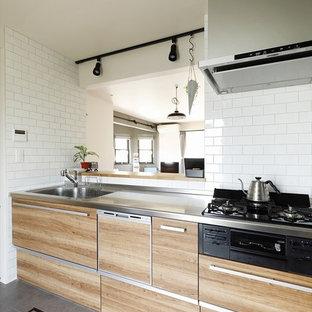 インダストリアルスタイルのおしゃれなキッチンの写真