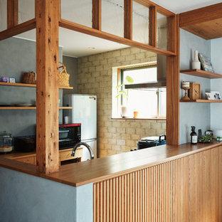 名古屋のアジアンスタイルのおしゃれなキッチンの写真