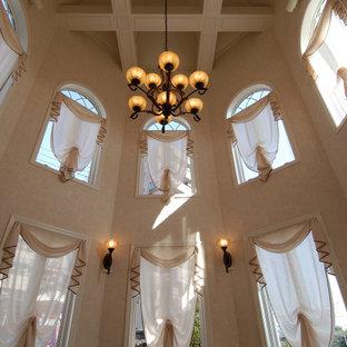 Idéer för vintage uterum, med klinkergolv i porslin och rosa golv