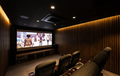 自宅で映画館のような臨場感を!ホームシアターのある住まい