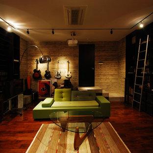 Ispirazione per un home theatre minimalista chiuso