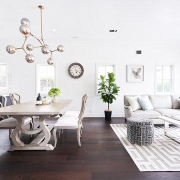 ホワイトを基調としたカリフォルニア・リゾートスタイルの邸宅