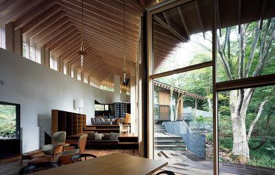 箱根の森林風景に心奪われる、究極の別荘《ヤマノイエ》