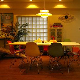 Esempio di una sala da pranzo boho chic