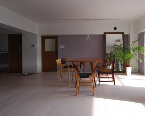 dining room design ideas, remodels & photos with plywood floors