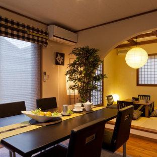 Inspiration pour une salle à manger asiatique.