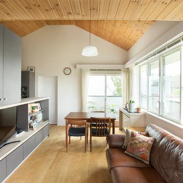室内でも自然を感じられる二世帯住宅
