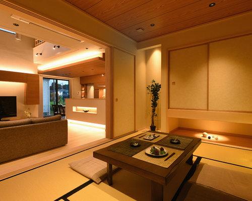 salle manger avec un sol de tatami photos et id es d co de salles manger. Black Bedroom Furniture Sets. Home Design Ideas