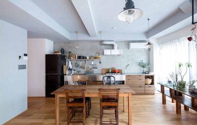 ステンレスキッチンに木の素材感。心地よい家族の時間つくるマンションリノベーション