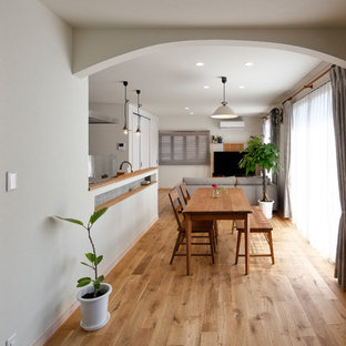 Example of a danish dining room design in Other