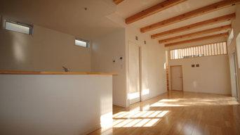 福岡市東区O邸 木の家のシンプルな癒し空間