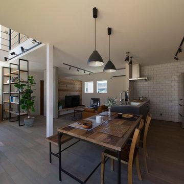 納入事例:個性を詰め込んだ、ブルックリンスタイルの家
