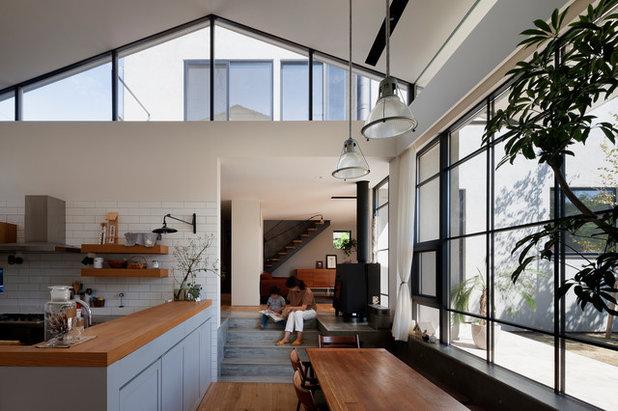 Le case di houzz in giappone ode allo stile moderno for Case moderne industriali in vendita