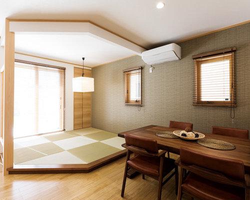 salle manger contemporaine avec un sol de tatami photos et id es d co de salles manger. Black Bedroom Furniture Sets. Home Design Ideas