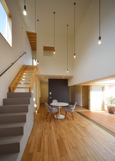 Contemporain Salle à Manger by フリーダムアーキテクツデザイン株式会社