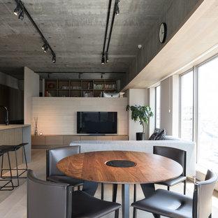 Fotos de comedores   Diseños de comedores modernos con paredes grises