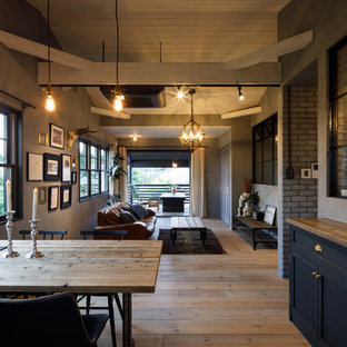 Example of an urban dining room design in Other
