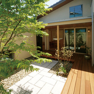 Example Of A Minimalist Courtyard Patio Design In Other