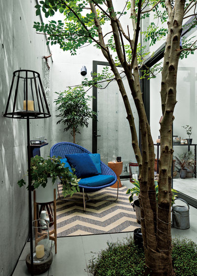 Éclectique Terrasse et Patio by モダンリビング