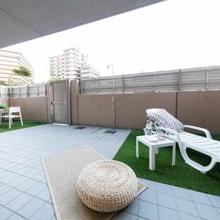 福岡のコンテンポラリースタイルのおしゃれなテラス・中庭 (張り出し屋根) の写真