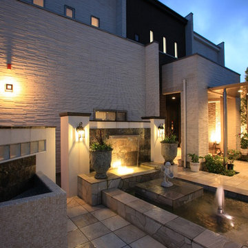 噴水のあるプライベートガーデン Draw:Garden/株式会社北陸園芸 石川県S様邸