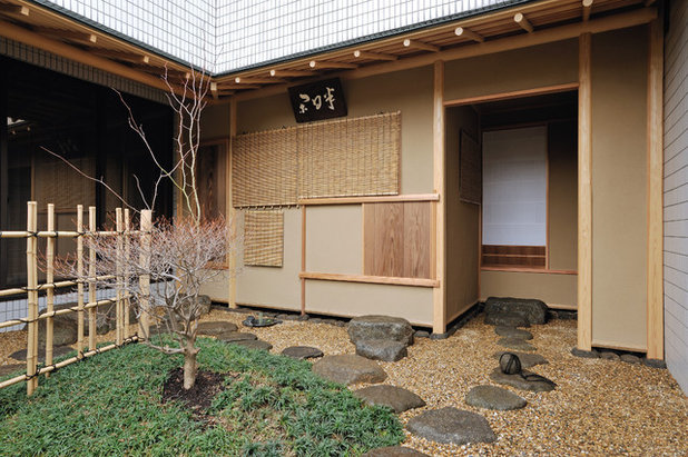 和室・和風 テラス・中庭 by 岩崎建築研究室
