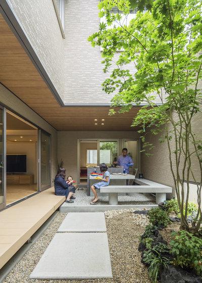 アジアン テラス・中庭 by SQOOL一級建築士事務所