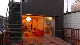 屋上段々テラスのある家<逗子KD邸>