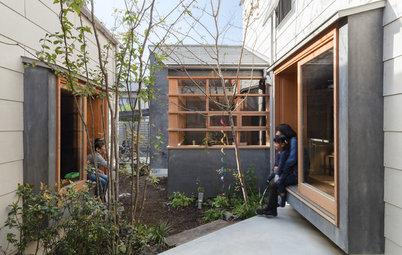 のびのびと過ごせる中庭がある、家族のための家