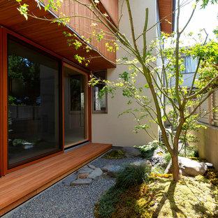 京都の和風のおしゃれなテラス・中庭の写真