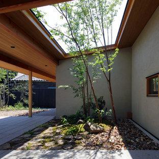 京都の和風のテラス・中庭の画像