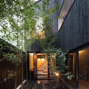 東京23区の小さいコンテンポラリースタイルの横庭の画像 (日よけなし)