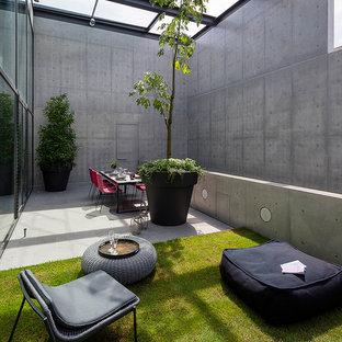 Foto de patio minimalista con jardín de macetas