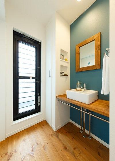北欧 トイレ・洗面所 by MEIJI HOMES 自由設計・自然素材の明治ホームズ