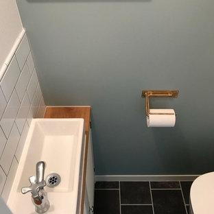 Photos et idées déco de WC et toilettes avec un plan de toilette en ...