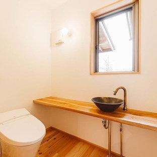 東京都下の和風のおしゃれなトイレ・洗面所の写真