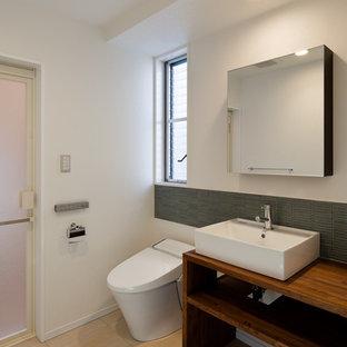 他の地域のアジアンスタイルのおしゃれなトイレ・洗面所の写真