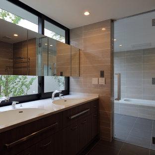 京都のアジアンスタイルのおしゃれなトイレ・洗面所の写真