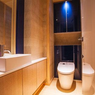 東京23区のコンテンポラリースタイルのおしゃれなトイレ・洗面所の写真