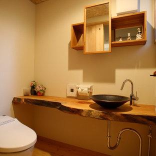 Aménagement d'un WC et toilettes scandinave.