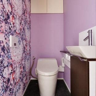 Idée de décoration pour un WC et toilettes design.