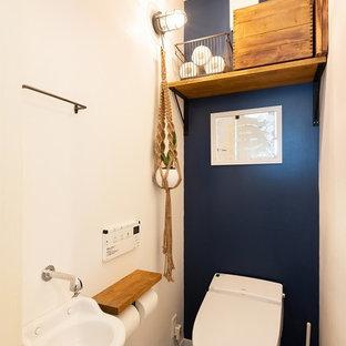 京都のコンテンポラリースタイルのおしゃれなトイレ・洗面所の写真