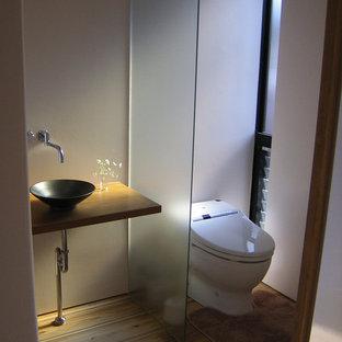 他の地域の和風のおしゃれなトイレ・洗面所の写真