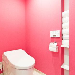 Immagine di un bagno di servizio minimalista