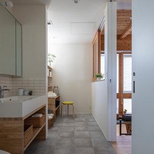 東京都下のアジアンスタイルのおしゃれなトイレ・洗面所の写真