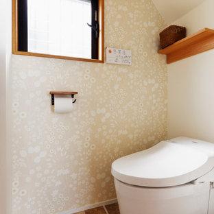 東京23区のミッドセンチュリースタイルのおしゃれなトイレ・洗面所の写真