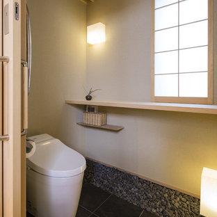 神戸の和風のおしゃれなトイレ・洗面所の写真