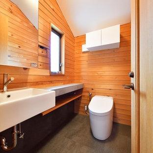 カントリー風おしゃれなトイレ・洗面所の写真